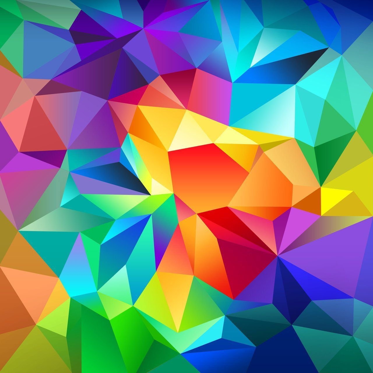 Pattern, Android, Orange, Blue, 4k, Background, Triangle, - HD Wallpaper