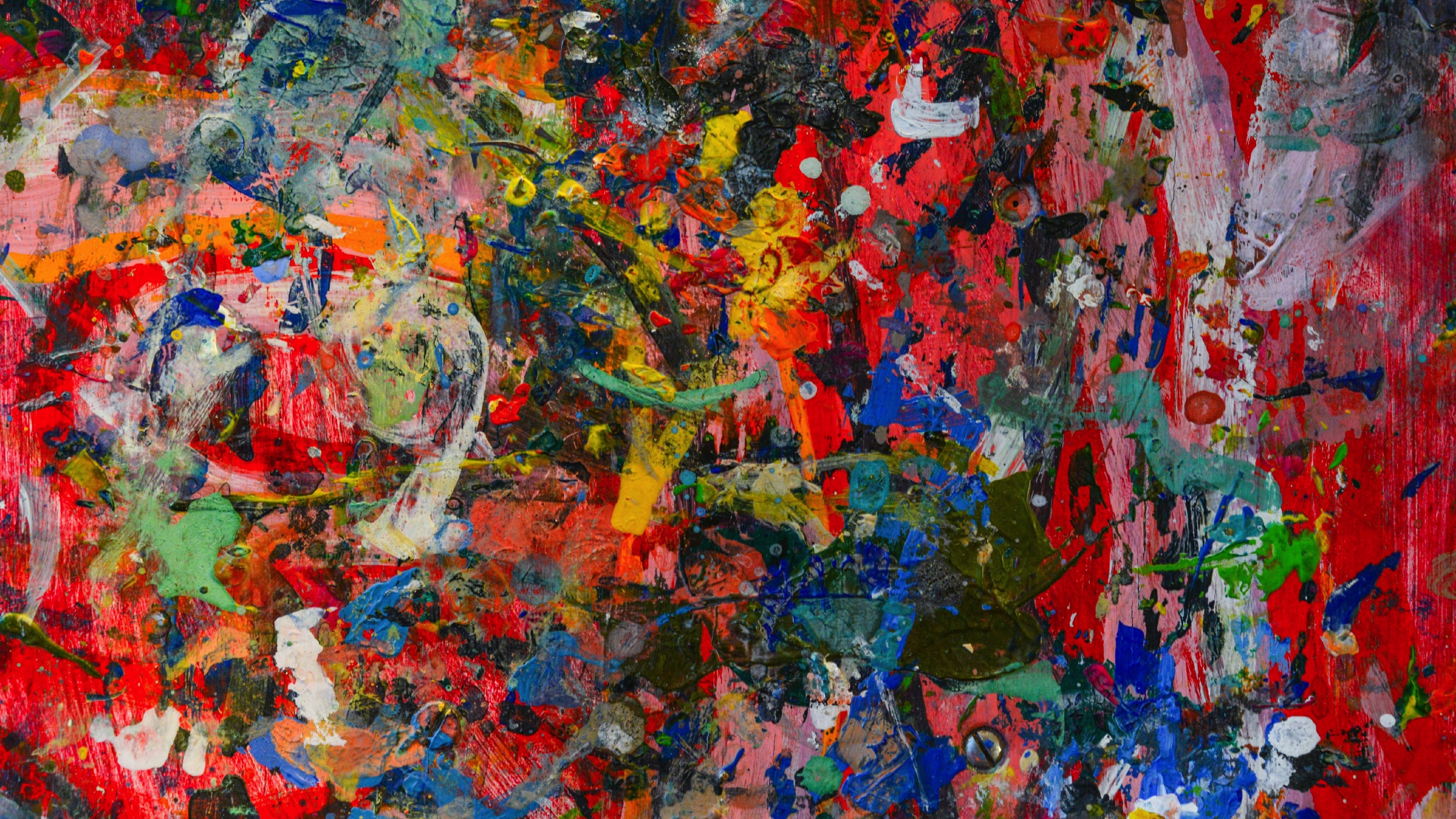 Color Spatters, Colorful, Texture, Wallpaper - Art Painting Wallpaper Iphone - HD Wallpaper
