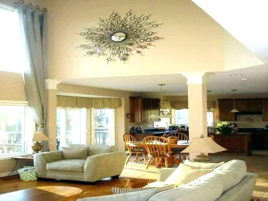 Living Room With Tall Ceilings Ideas - HD Wallpaper