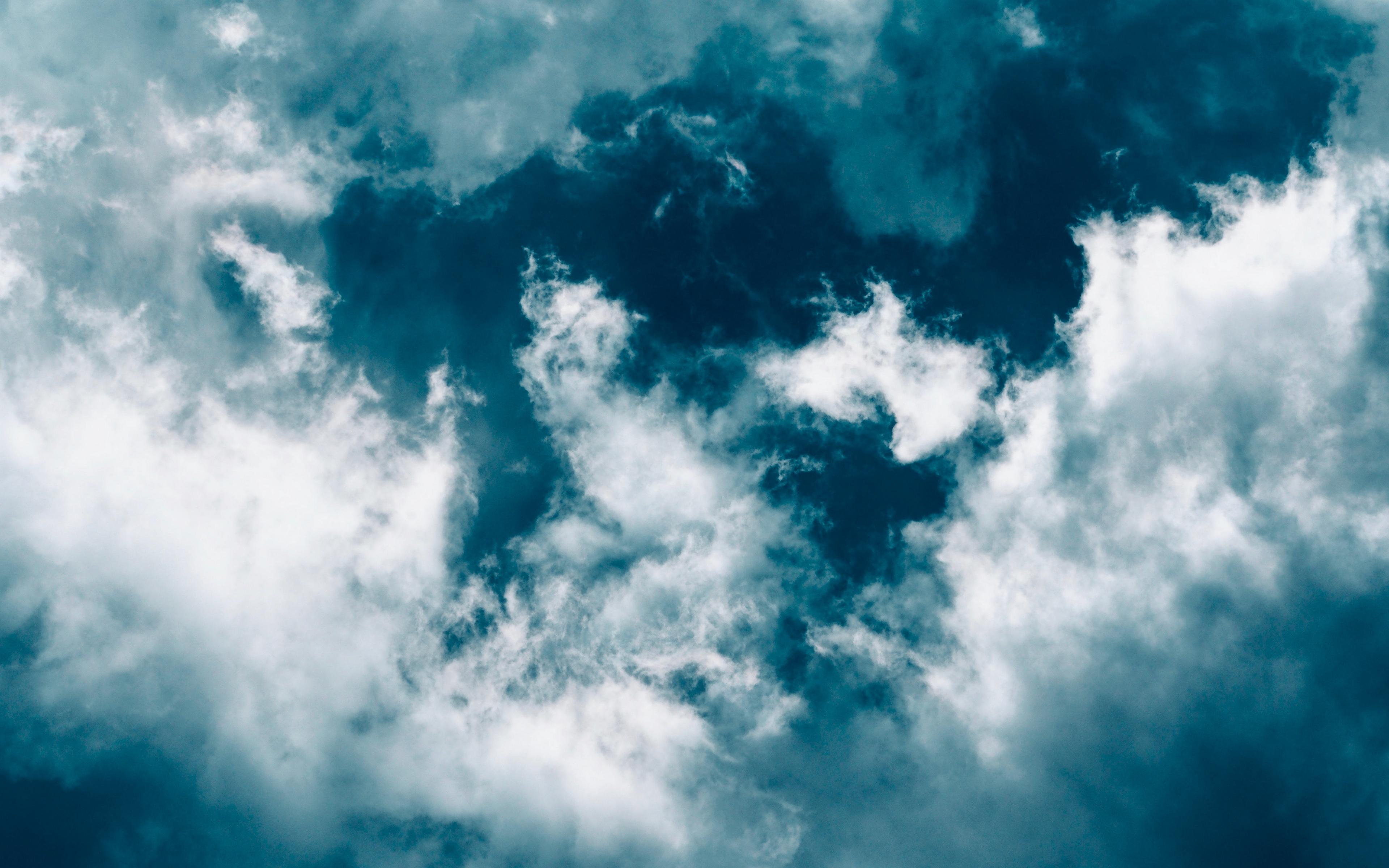 Wallpaper Clouds Sky Porous Blue White Cloud Background For Laptop 3840x2400 Wallpaper Teahub Io