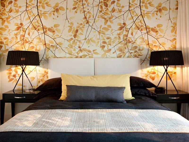 Beautiful Wallpaper Designs For Bedroom - Home Wallpaper Designs For Bedroom - HD Wallpaper