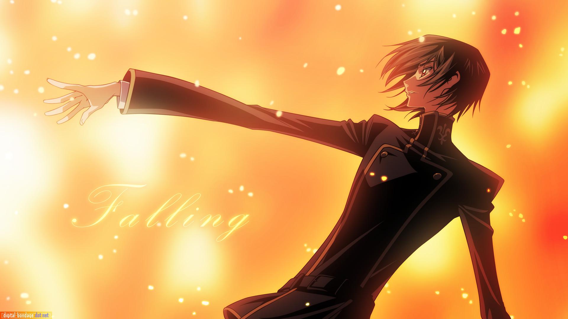 Wallpaper - Anime Person Falling Backwards - 10x10 Wallpaper