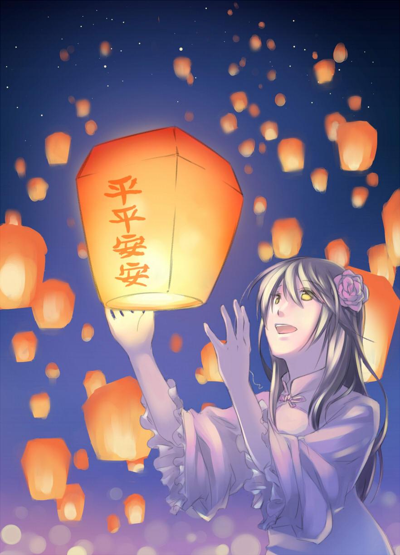 Anime Lantern Festival 882x1224 Wallpaper Teahub Io