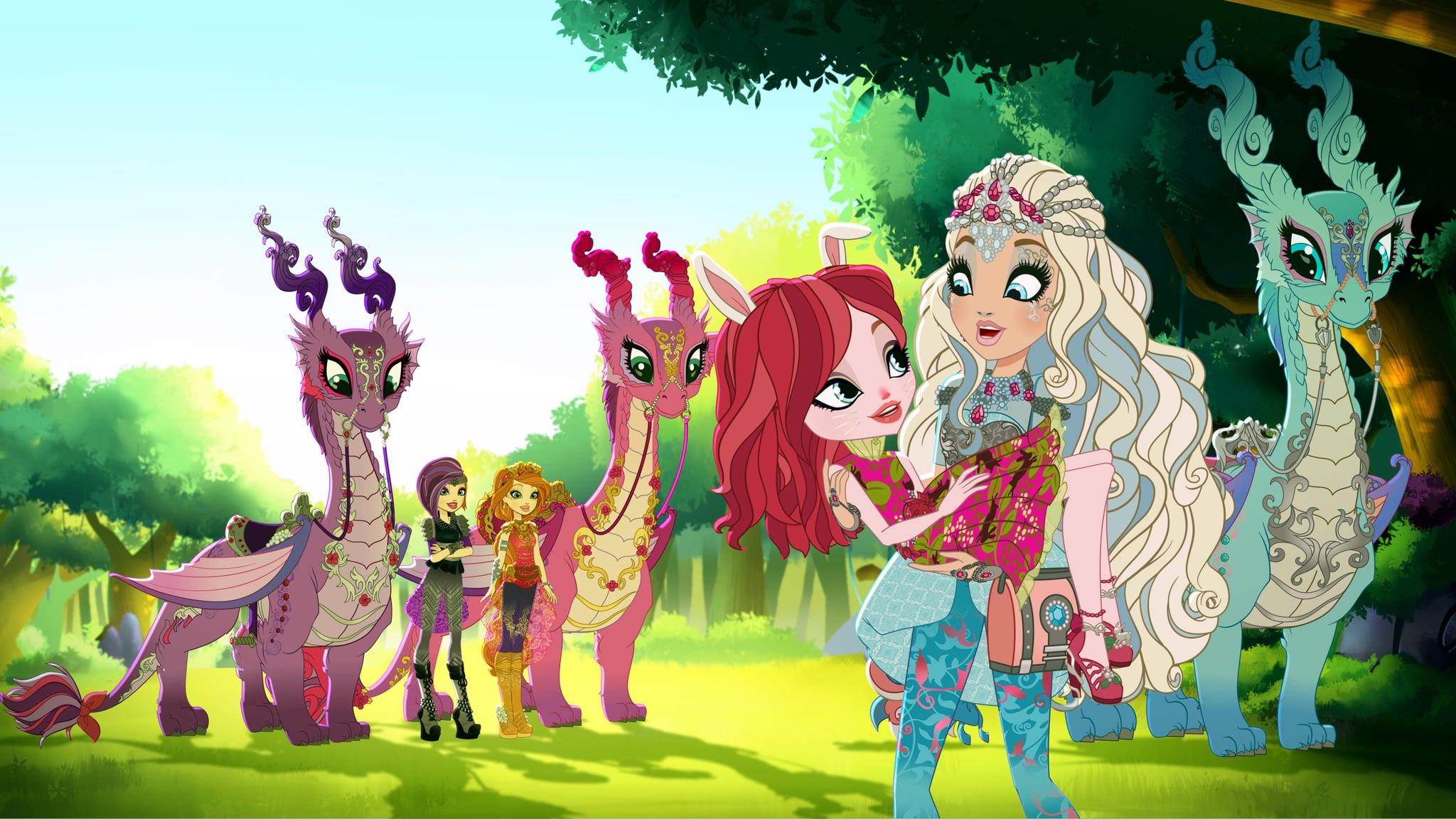 Ever After High All The Dragons 2048x1152 Wallpaper Teahub Io