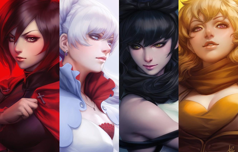 Photo Wallpaper Girls, Face, Anime, Art, Rwby, Ruby - Artgerm Rwby - HD Wallpaper