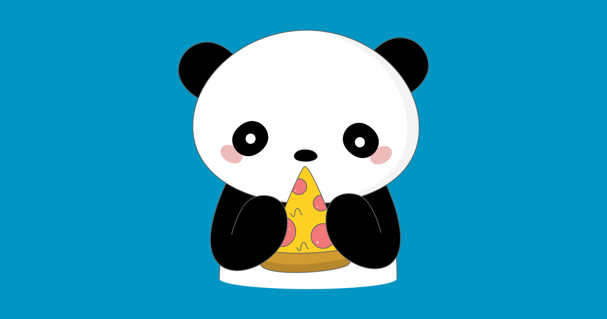 Pretty Pictures Kawaii Panda Eating Pizza 1200x630 Wallpaper Teahub Io