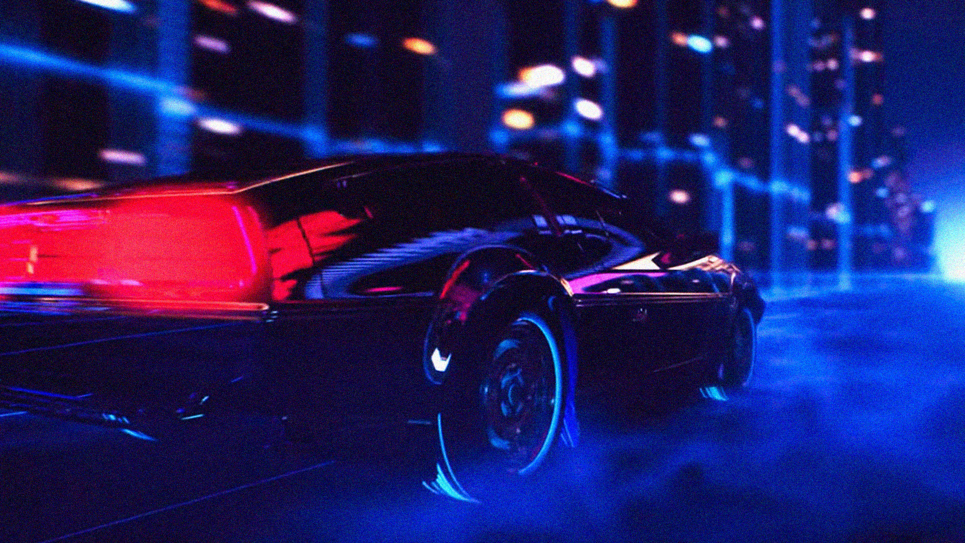 Retro Wave Car Gif 1920x1080 Wallpaper Teahub Io