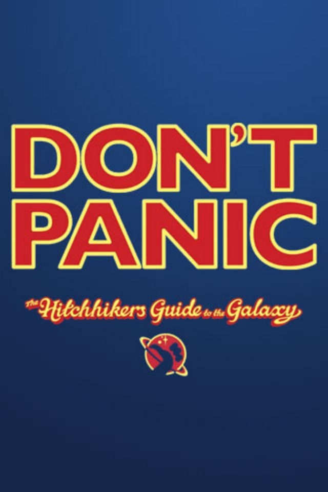 Dont Panic Hitchhikers Guide To The Galaxy Wallpaper - Iphone Hitchhiker's Guide To The Galaxy - HD Wallpaper