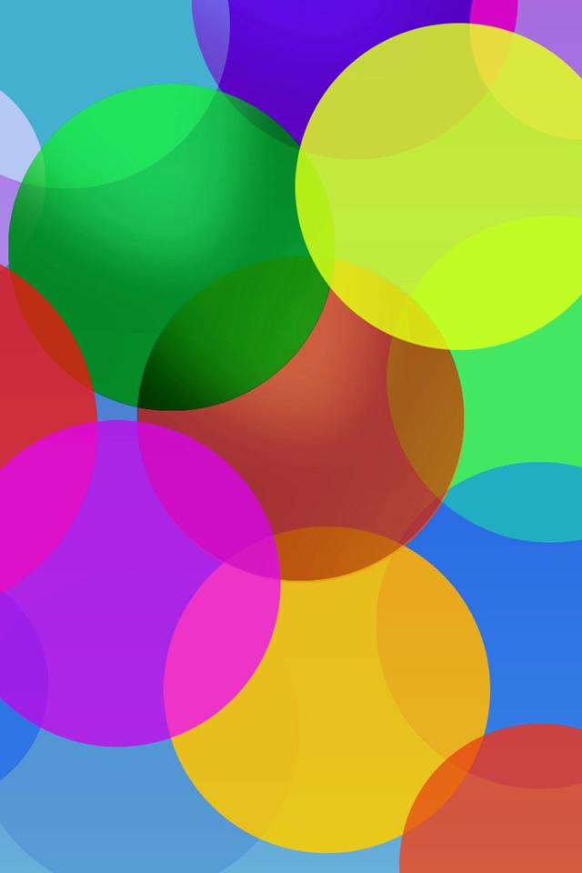 Fluttering Color Bubble Iphone 4s Wallpaper - Bubbles Iphone Wallpaper Download For Mobile - HD Wallpaper