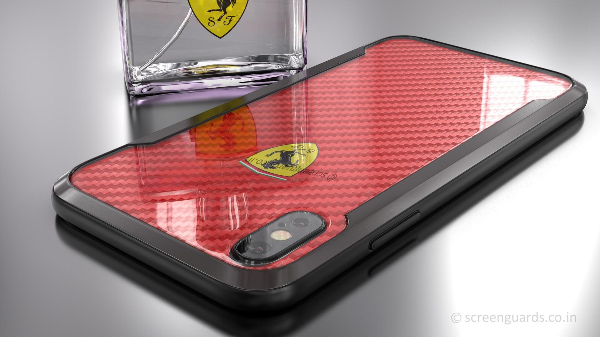 Ferrari Iphone X Aperta Ultra Thin With Carbon Fiber Ferrari Logo Wallpaper Iphone X 1920x1080 Wallpaper Teahub Io