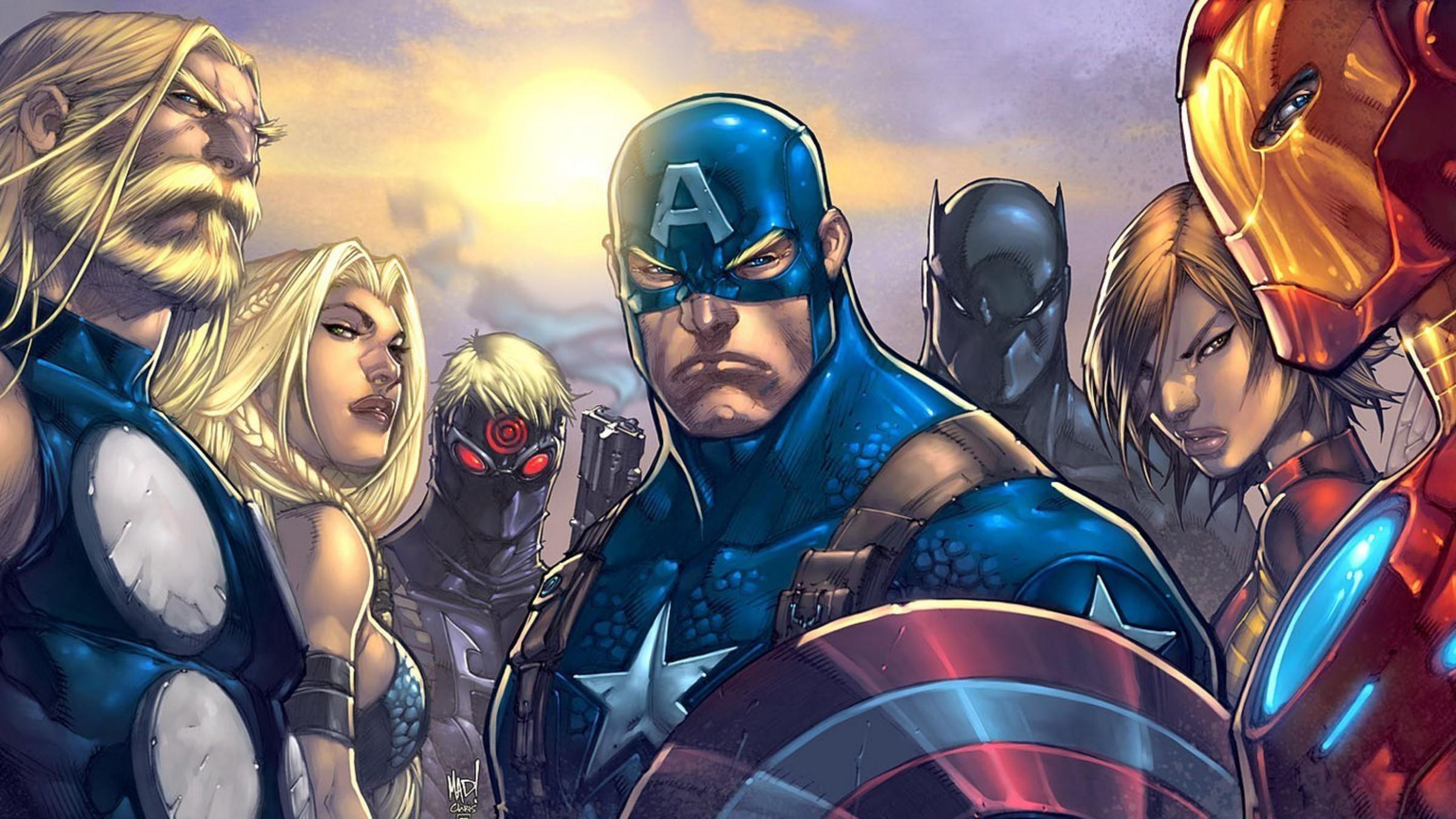 Comics Thor Captain America Marvel Ultimates Avengers - Captain America Hd Wallpaper Comics - HD Wallpaper