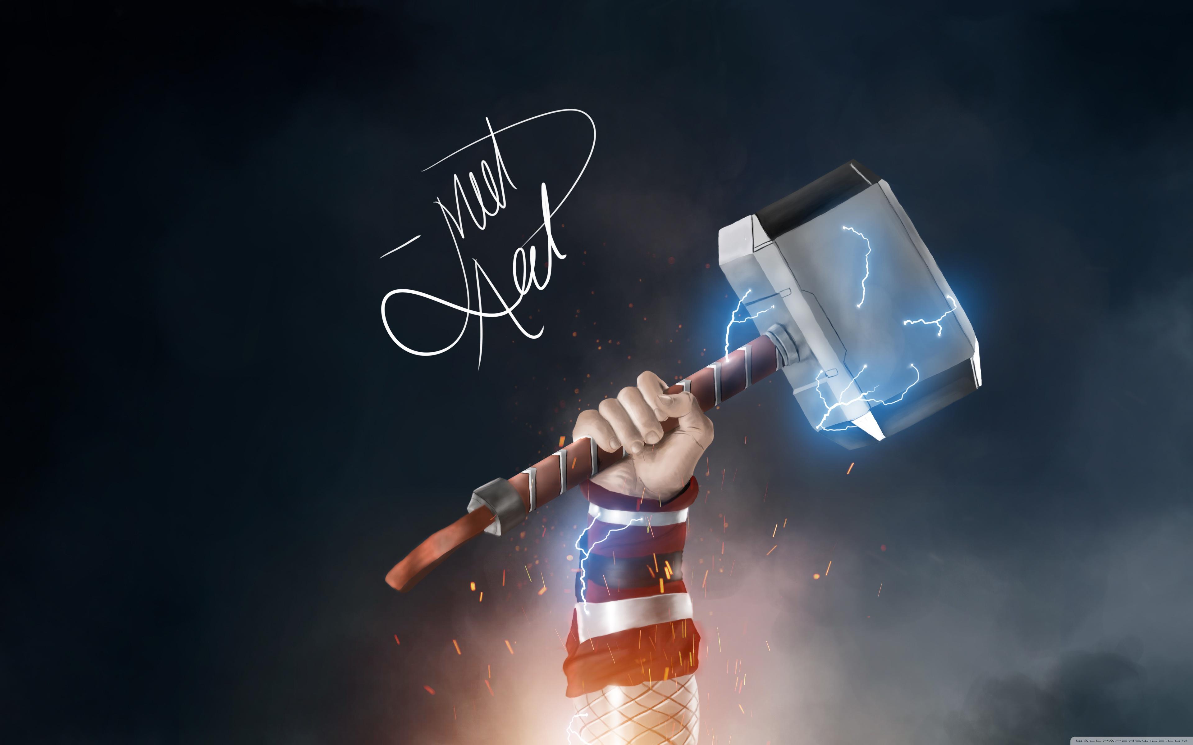 Thor Hammer Wallpaper Hd 3840x2400 Wallpaper Teahub Io