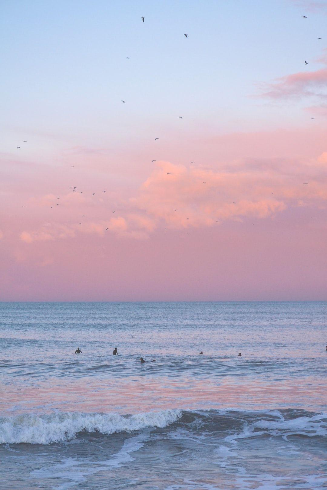 Ocean Tumblr Aesthetic - Pink Sky Wallpaper Hd - HD Wallpaper