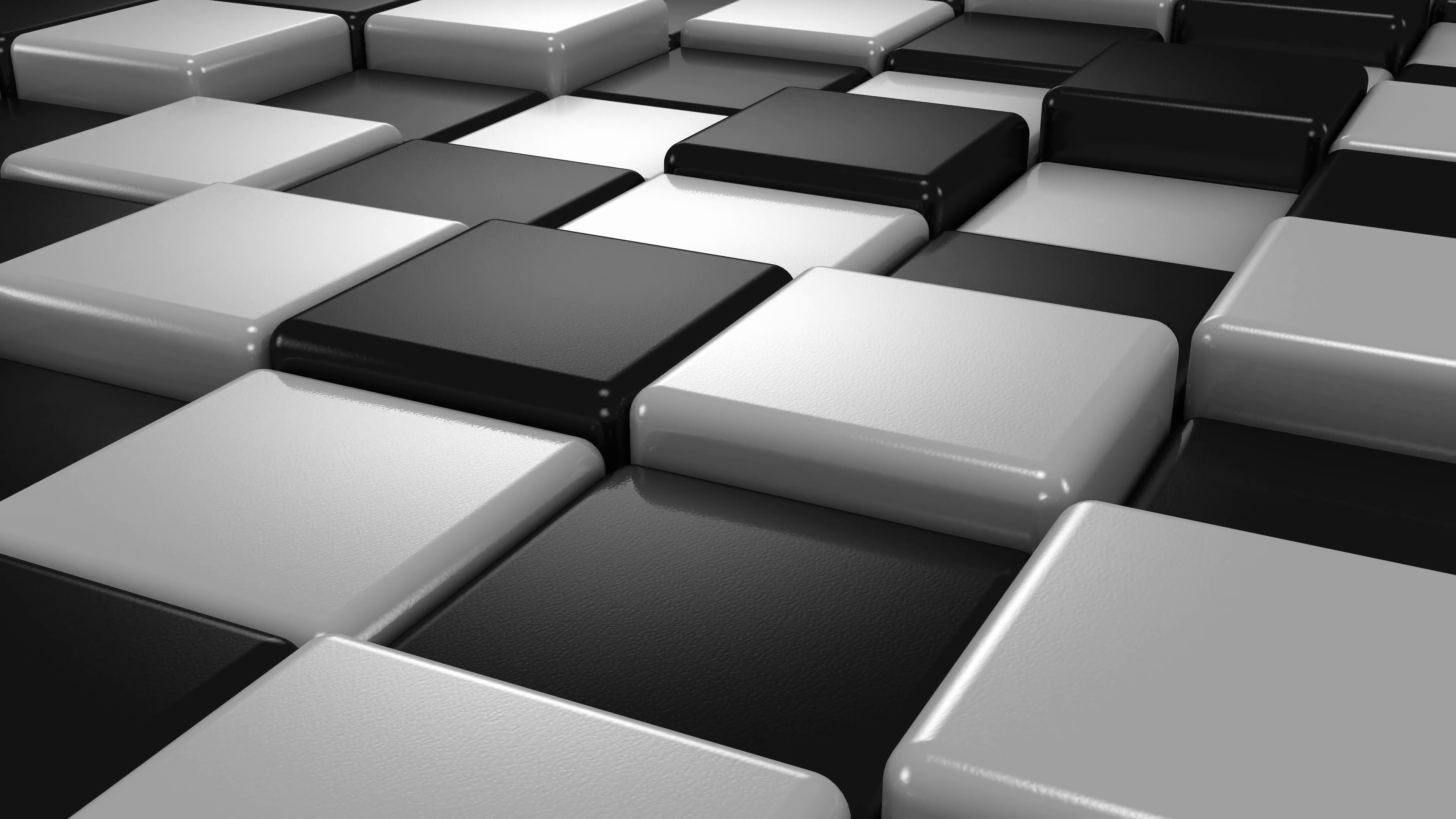 Abstract Background Of White And Black Cubes Motion Monochrome 3840x2160 Wallpaper Teahub Io