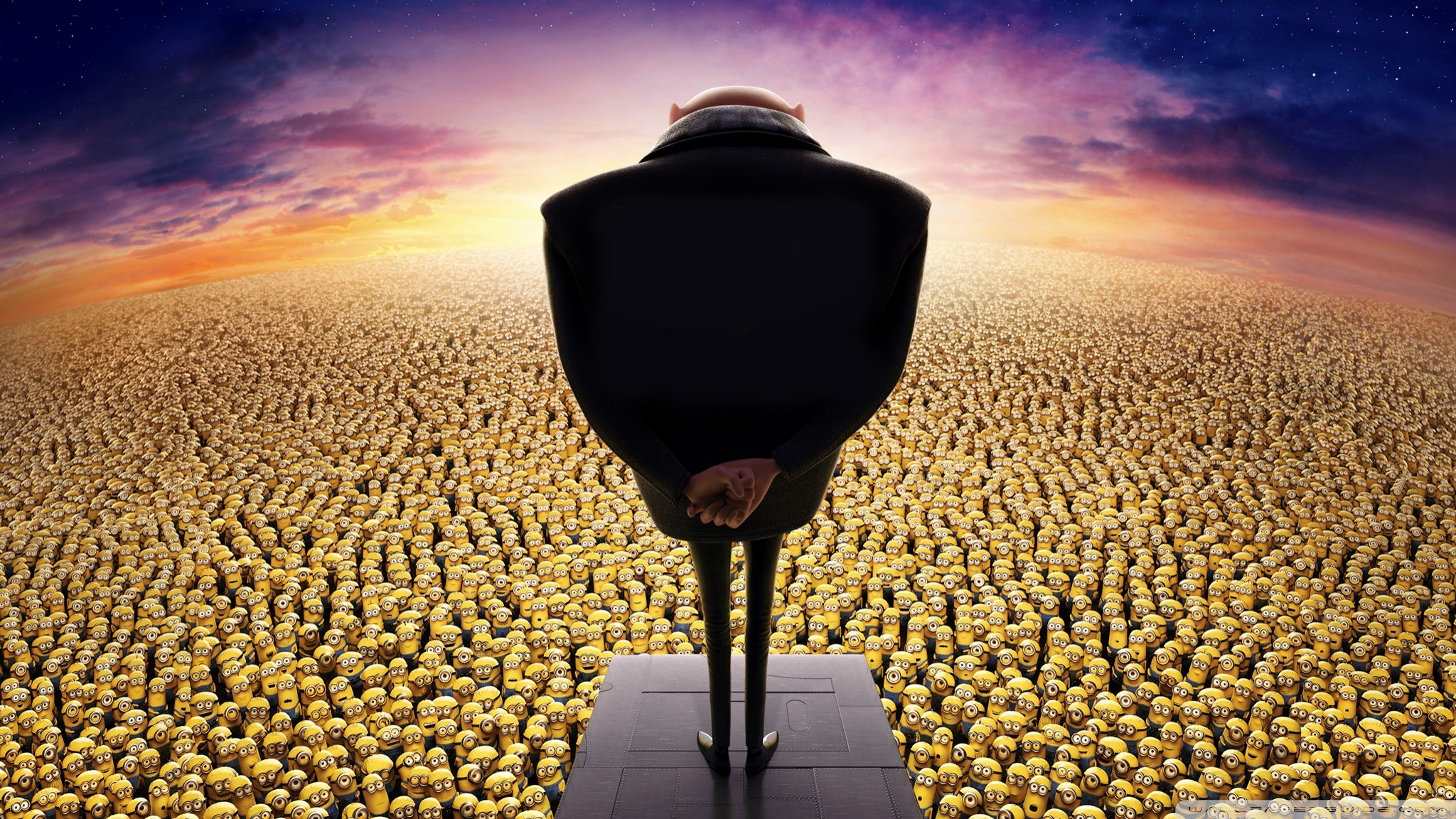 Despicable Me 2 Gru And Minions - HD Wallpaper