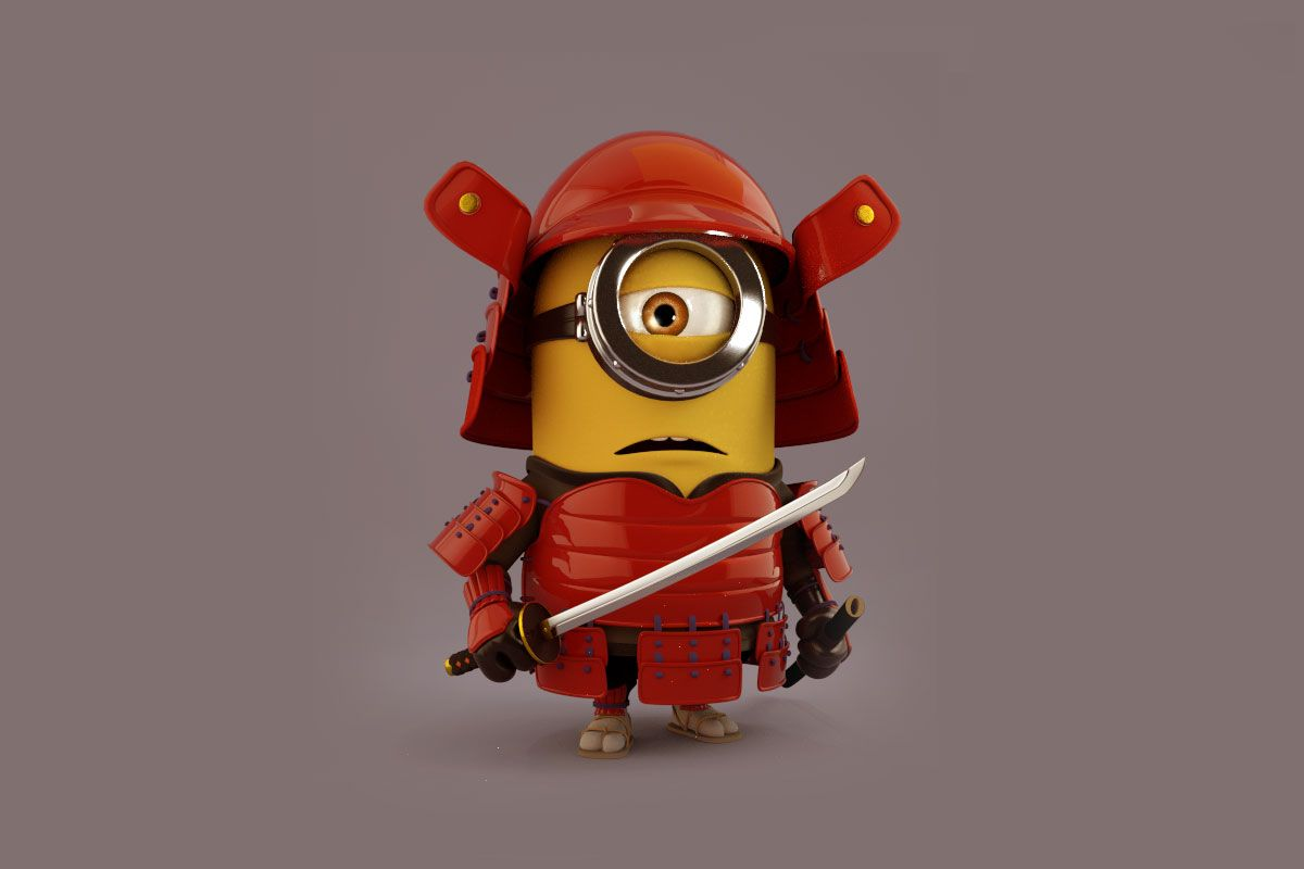 285 2851620 wp2734554 wallpaper minion 3d samurai minion
