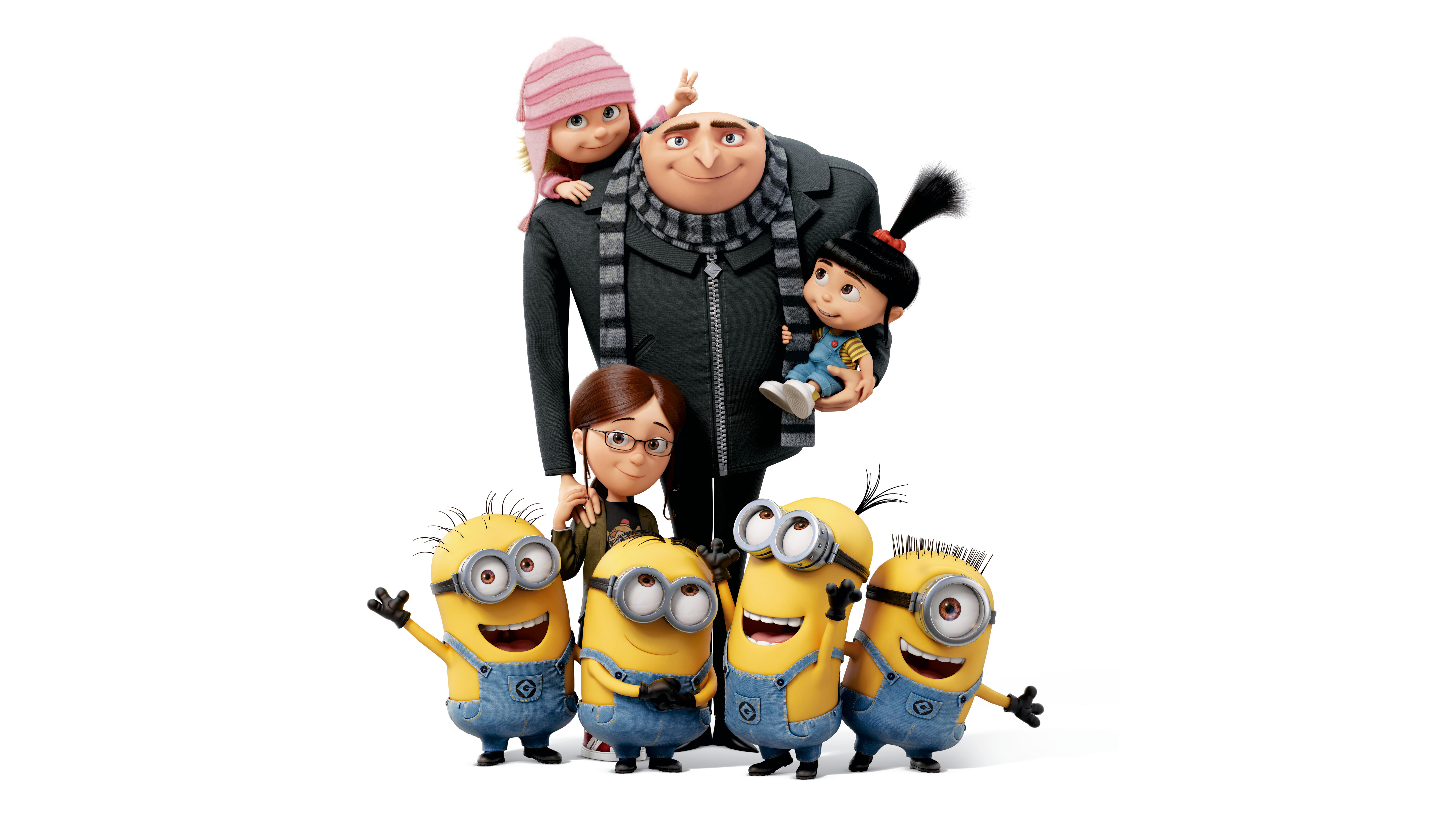 Despicable Me Gru And Minions - HD Wallpaper