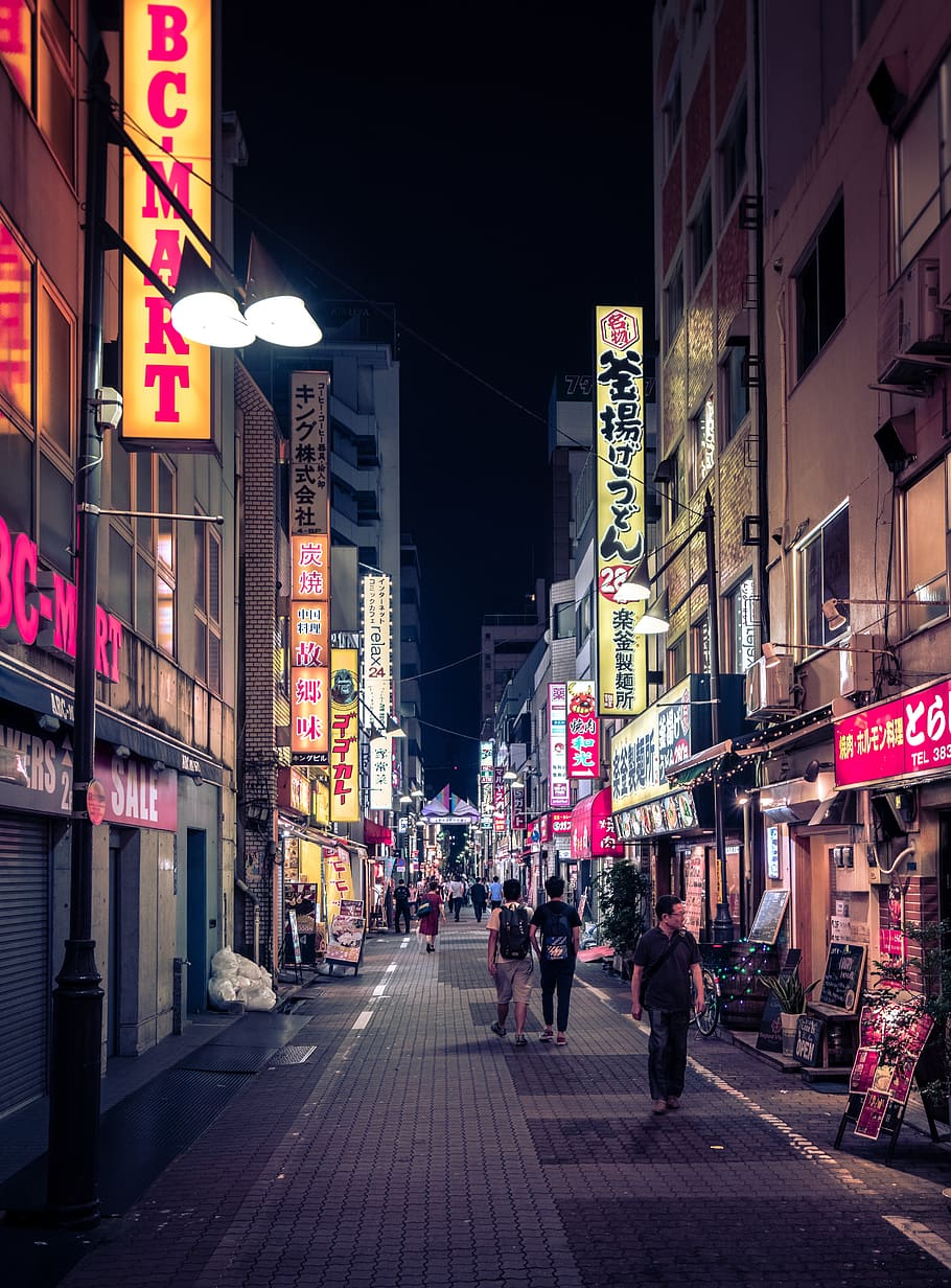 Tokyo, Neon, Night, Street, Asia, Ueno, City, Japan, - Hd Tokyo Neon - HD Wallpaper