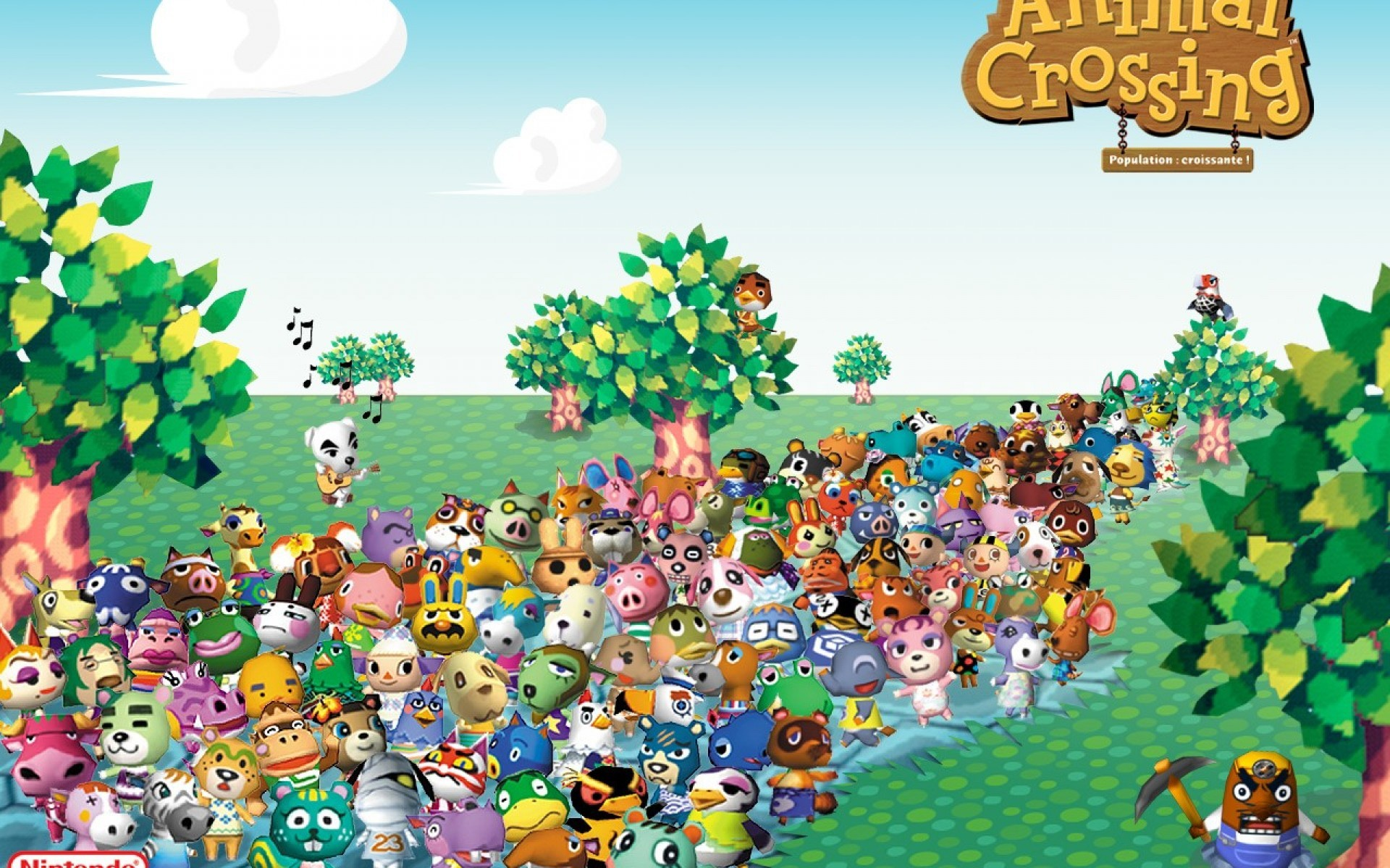 Animal Crossing Desktop Wallpaper City Folk 1920x1200 Wallpaper