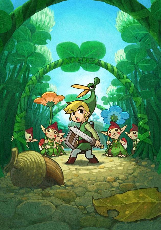 Anime, Nintendo, Zelda No Densetsu - Legend Of Zelda Minish Cap Art - HD Wallpaper