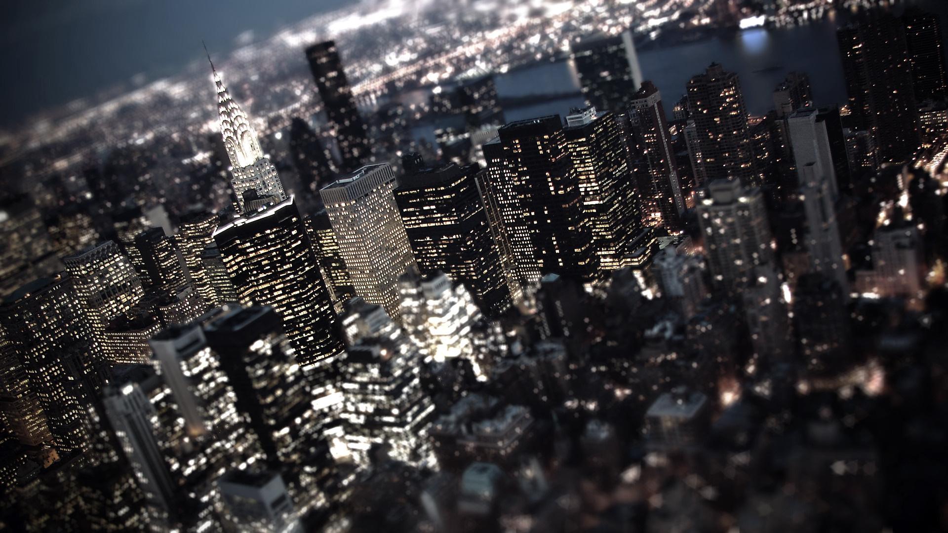 New York City Night Time - HD Wallpaper
