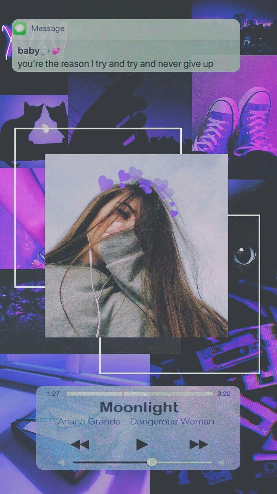 Lockscreen Tumblr Purple Iphone - HD Wallpaper