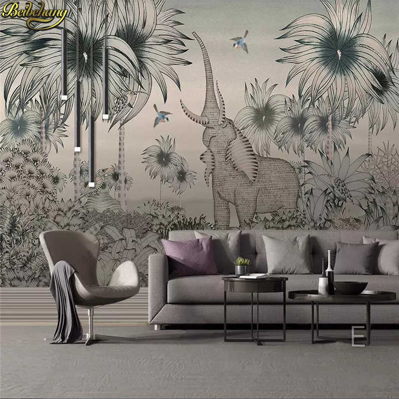 Beibehang Custom Photo Wallpaper Mural Medieval Hand-painted - Black And White 3d Wall Art - HD Wallpaper