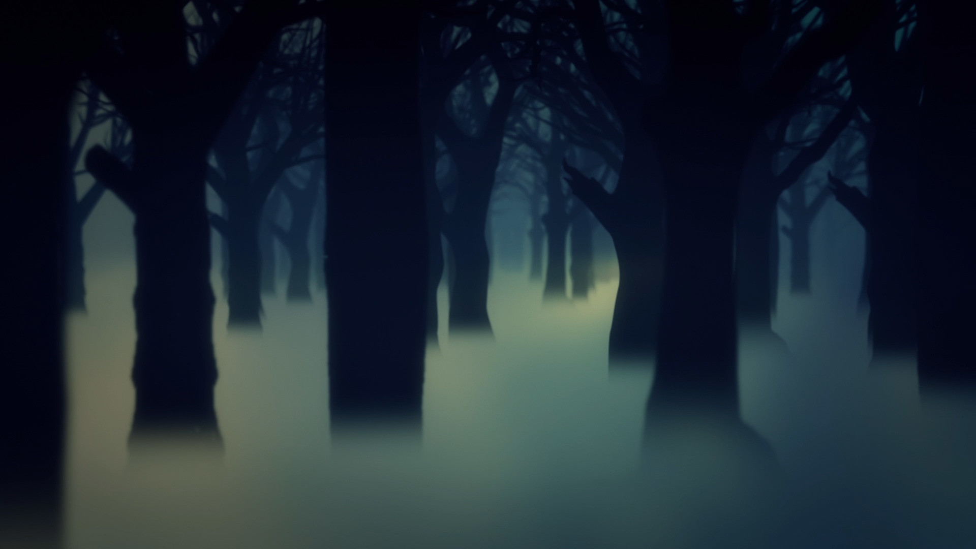 1920x1080, Dark Forest Fog Trees Animated Background - Animated Dark Forest Background - HD Wallpaper