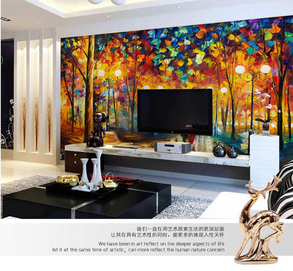 Shinehome-large European Wallpaper Neon City Street - Imagenes De Paisajes Hermosos De Anime - HD Wallpaper