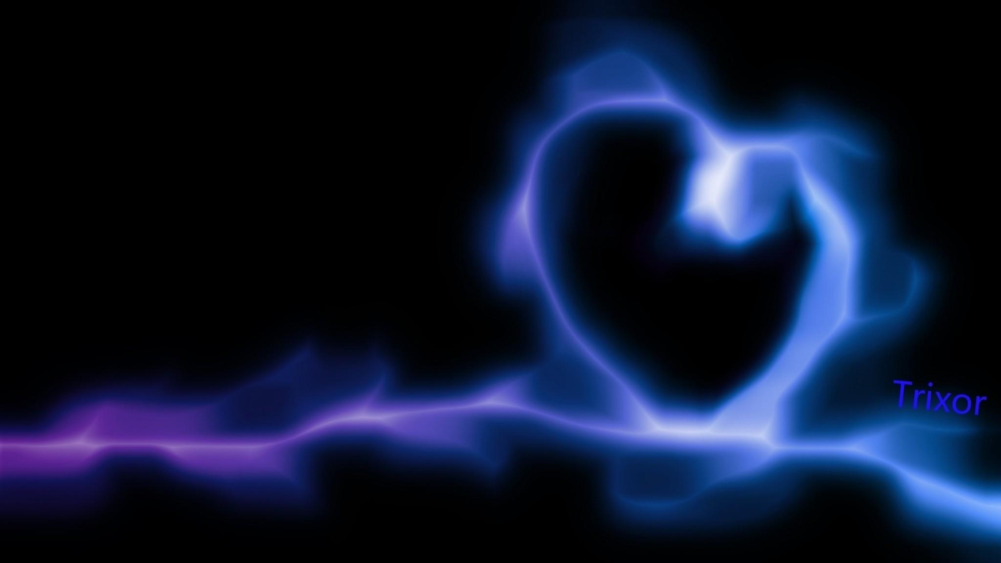 288 2887003 wallpaper heart blue neon glow data src blue