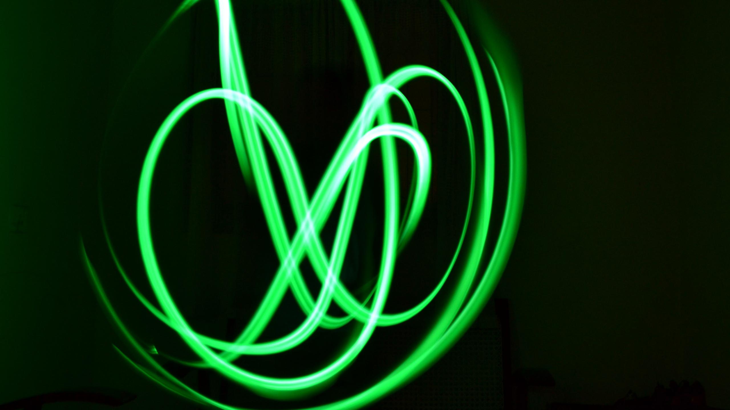 Wallpaper Neon, Lines, Plexus, Green - Neon Green Lines - HD Wallpaper