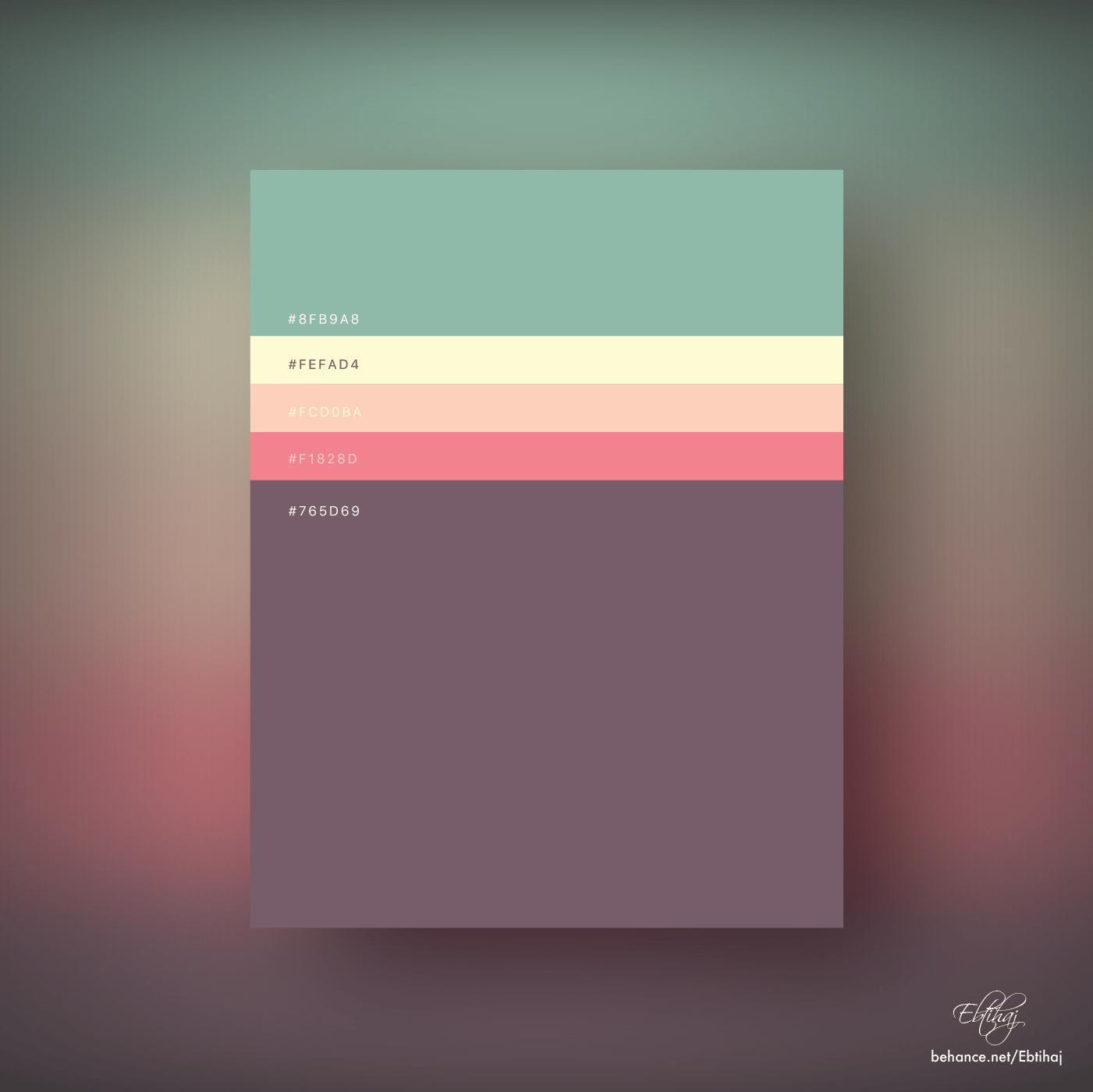 Flat Color Palette - HD Wallpaper