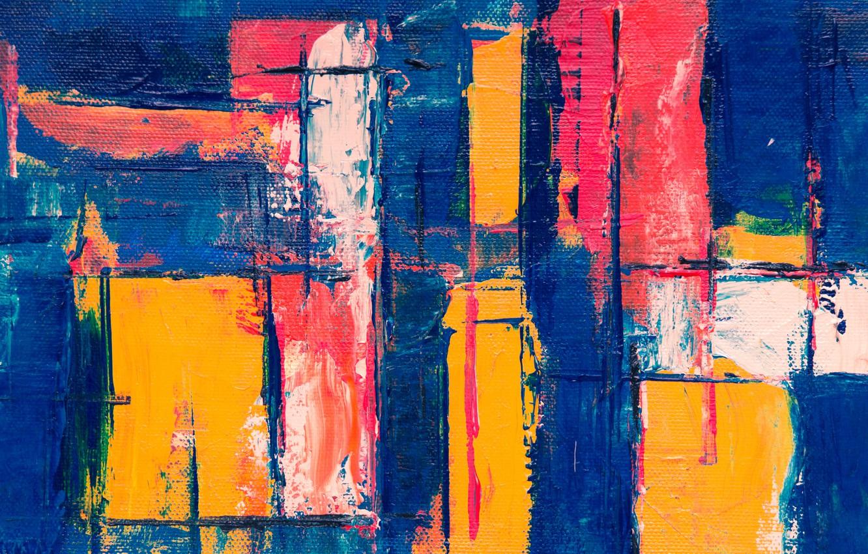 Photo Wallpaper Line, Strip, Paint, Canvas, Brush Strokes - Canvas - HD Wallpaper