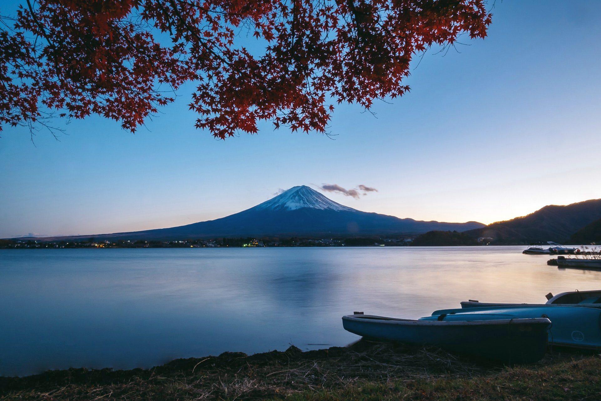 Beautiful Evening View Of Fuji Mountain Wallpaper Samsung J4 Plus Duvar Kagitlari 1920x1280 Wallpaper Teahub Io
