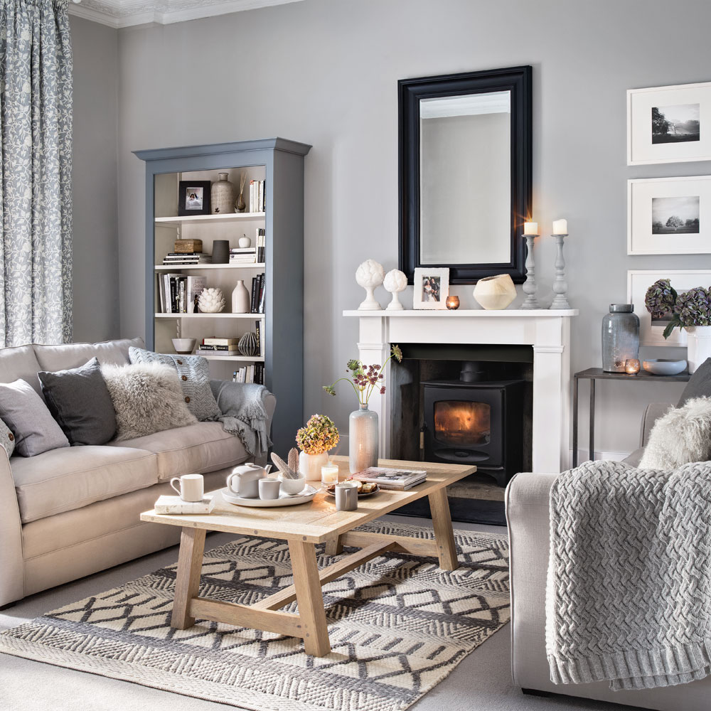 New Grey Living Room Design Idea Ideal Home 7 Introduce - Pale Grey Living Room - HD Wallpaper