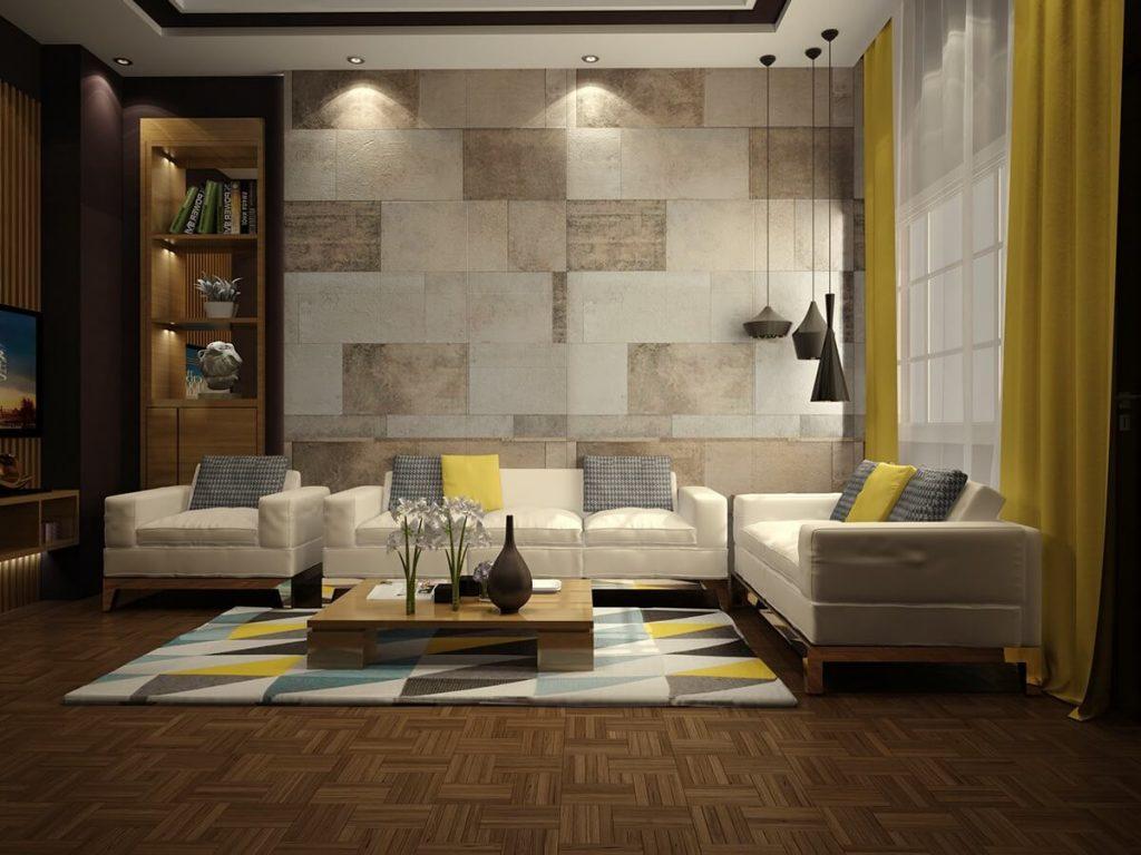 Wallpaper Designs For Living Room - Drawing Room Wall Designs - HD Wallpaper