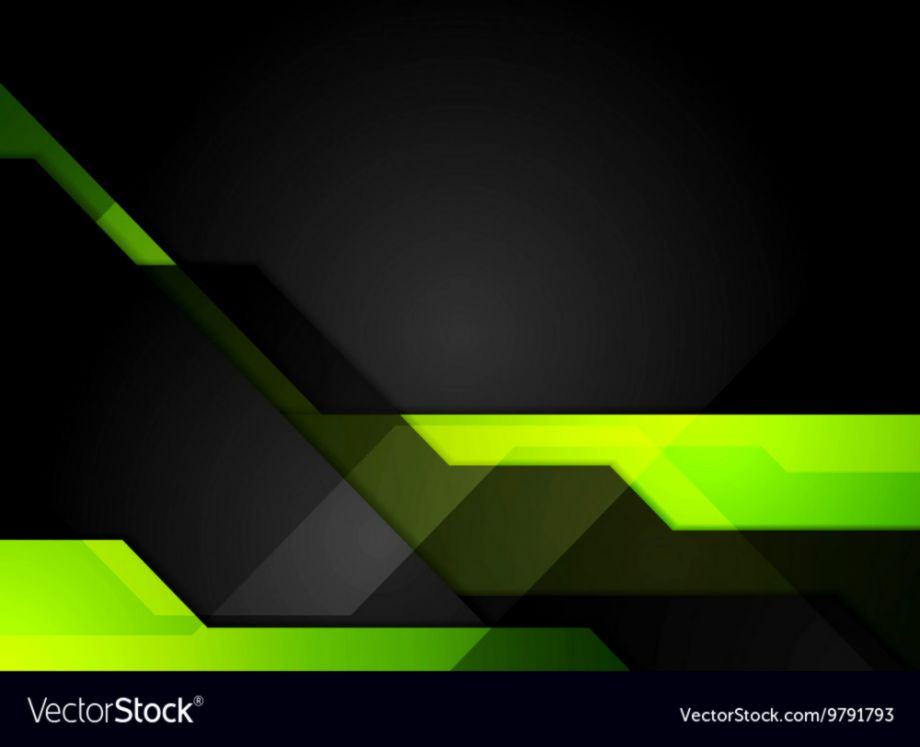 Green Black Abstract Tech Background Royalty Free Vector - Green Black Wallpaper Vector - HD Wallpaper