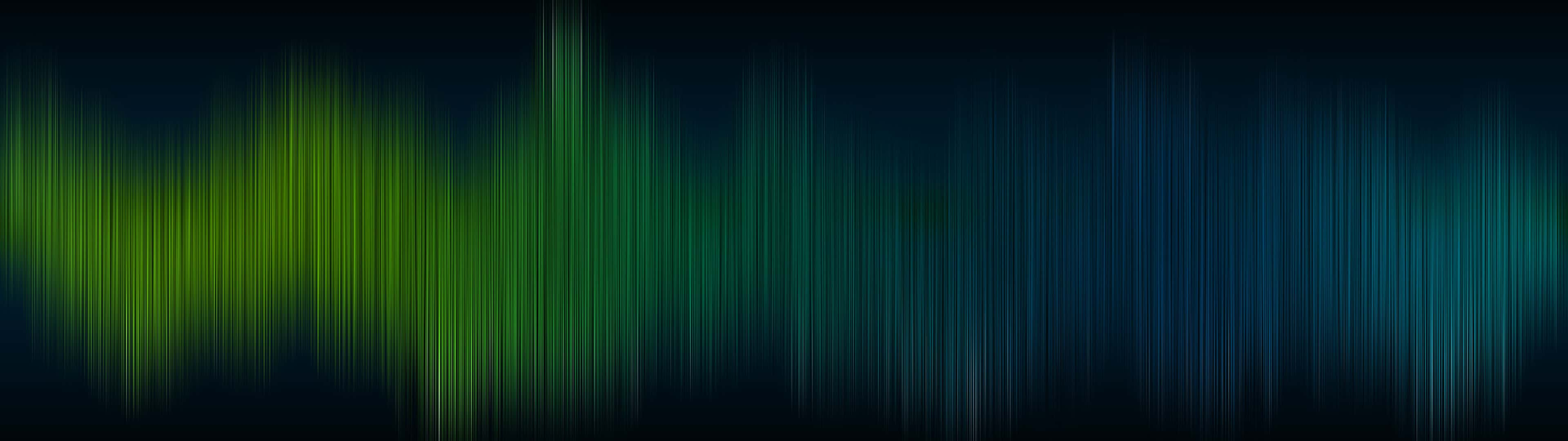 Line Pattern Green And Blue Dual Monitor Wallpaper - Black And Green - HD Wallpaper