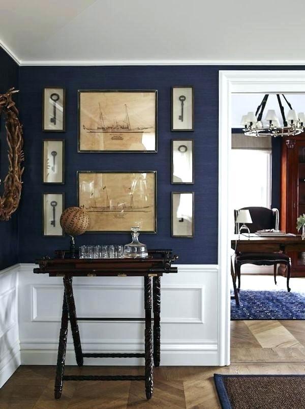 Navy Grasscloth Wallpaper Dining Room, Navy Grasscloth Wallpaper Dining Room