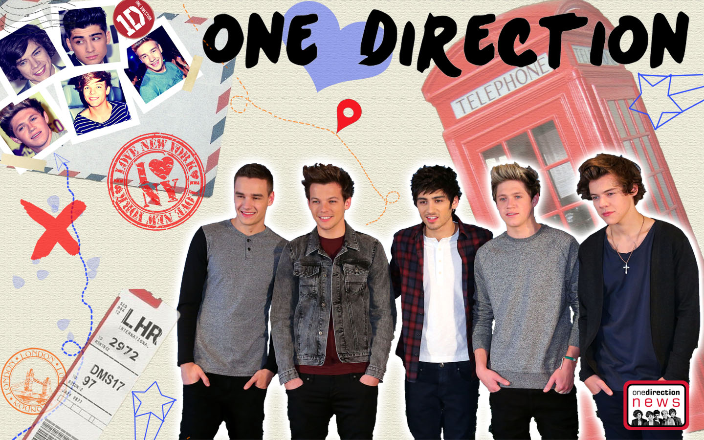 One Direction Laptop Background - HD Wallpaper