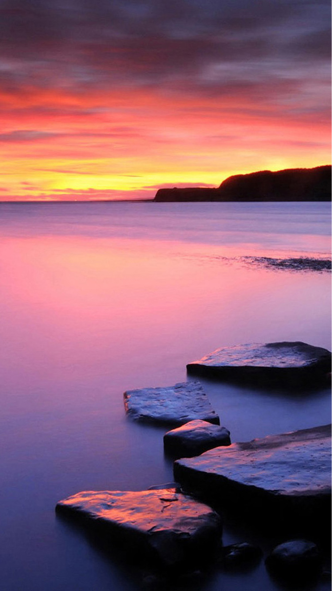 Sunset On Beach With Rocks Android Wallpaper Calming Wallpaper Iphone 1080x1920 Wallpaper Teahub Io Wallpaper rocks sea houses sunset sky