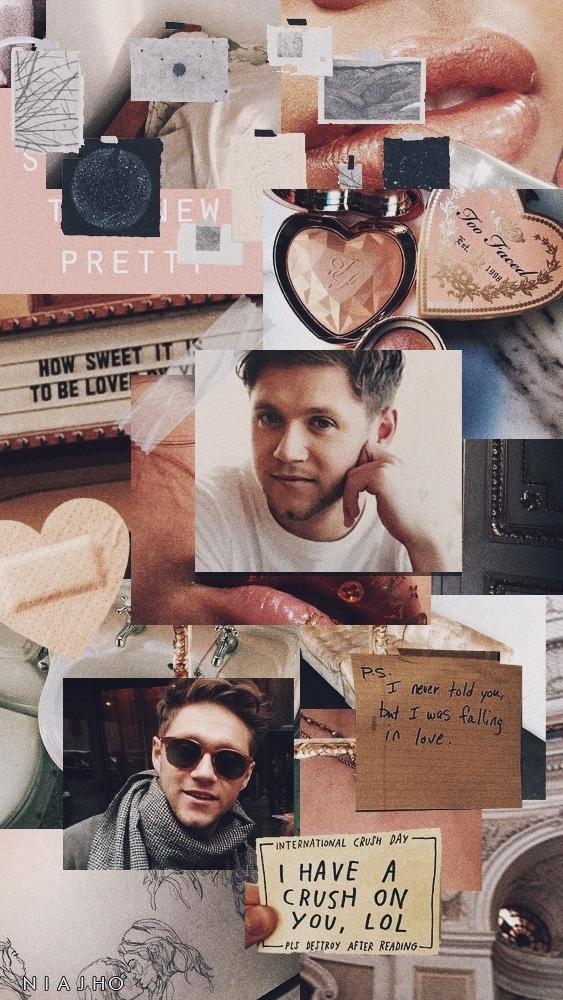 Aesthetic, Iphone, And Peach Image - Aesthetic Niall Horan Lockscreen - HD Wallpaper