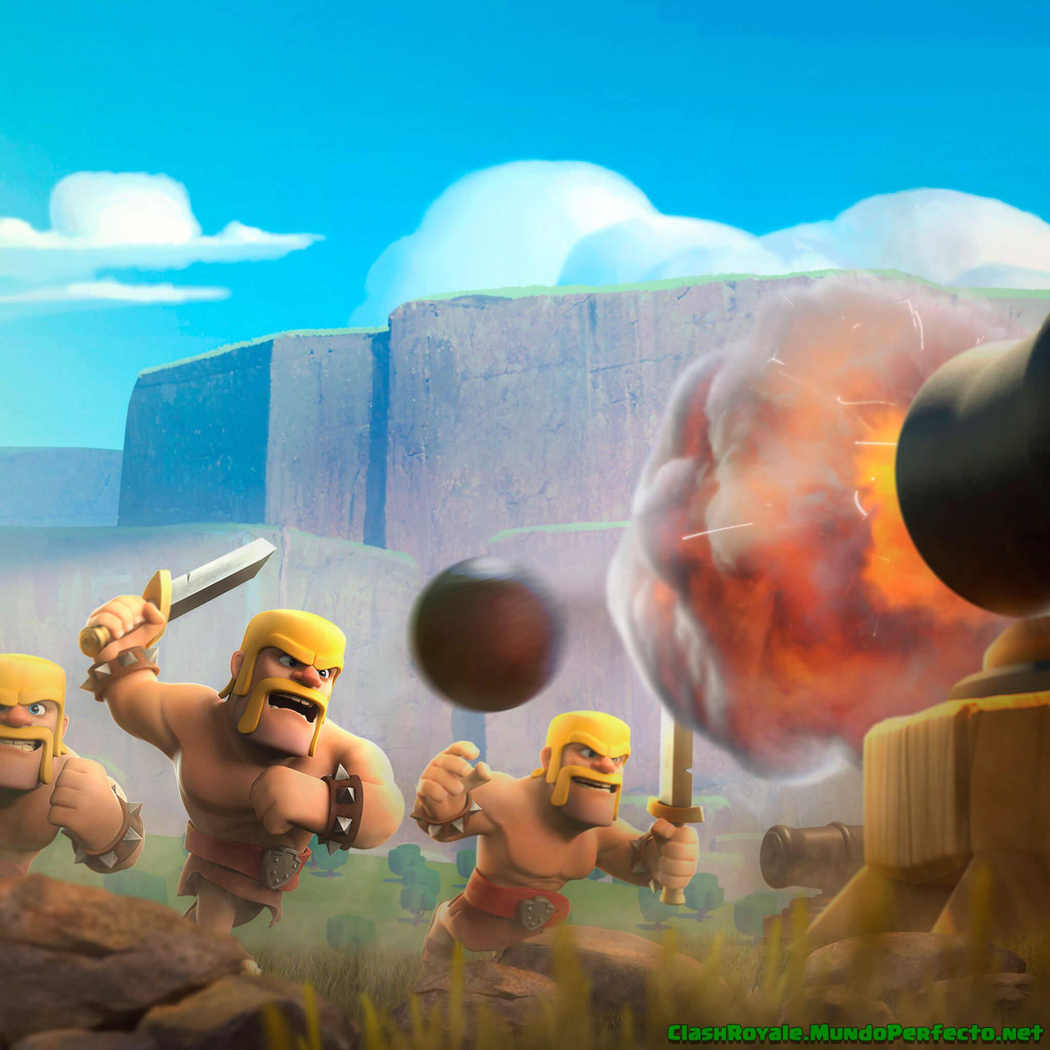 Batalla Barbaros Clash Royal Wallpaper - Fondo De Clash ...