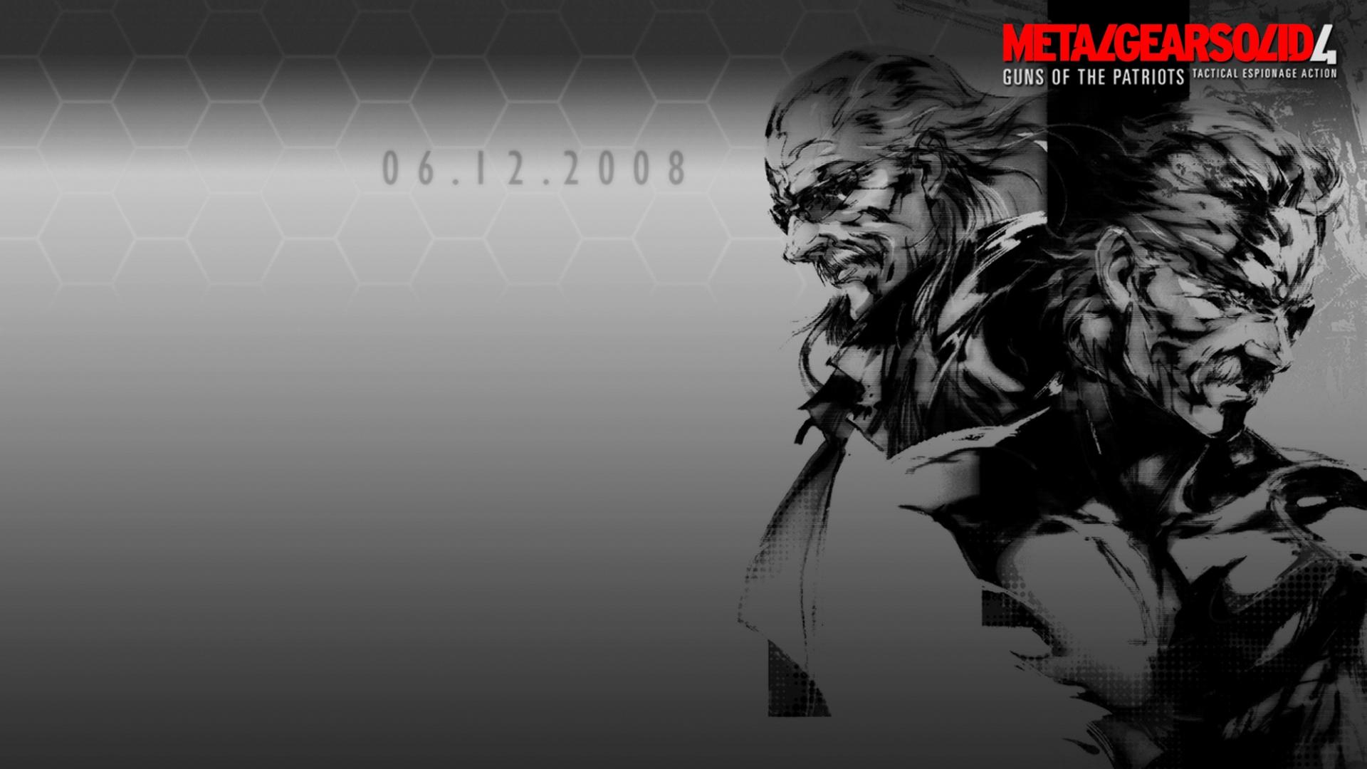 Metal Gear Solid 4 Box Art - HD Wallpaper