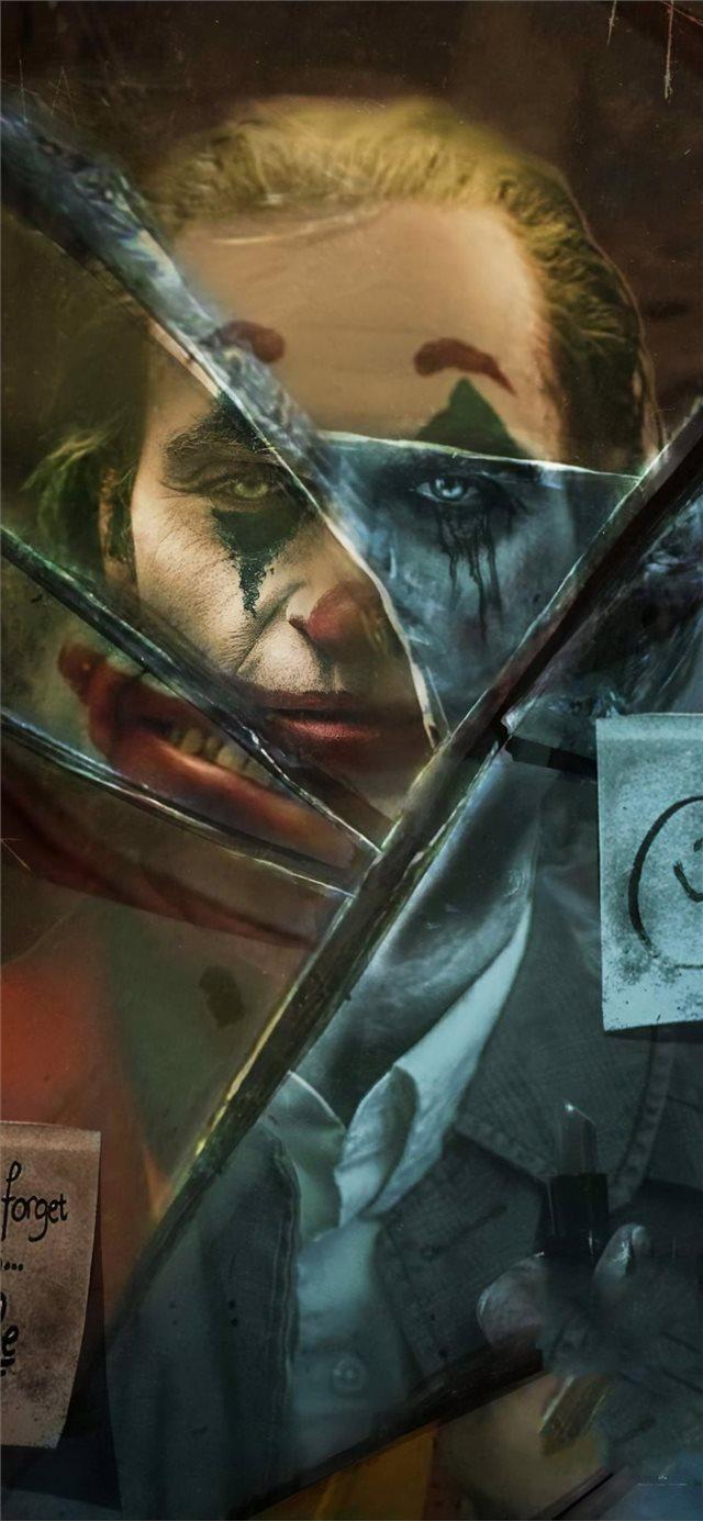 Joker Movie Broken Glass Iphone X Wallpaper Broken Glass Iphone 11 640x1385 Wallpaper Teahub Io