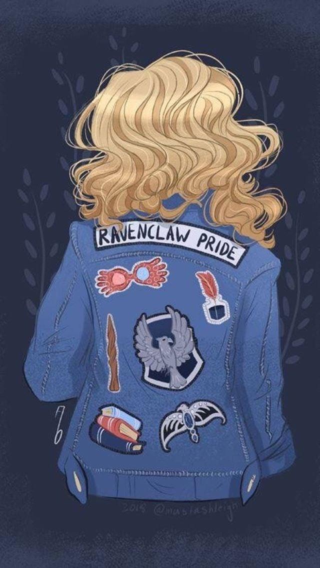 Harry Potter, Luna Lovegood, And Ravenclaw Image - Harry Potter Ravenclaw Fanart - HD Wallpaper