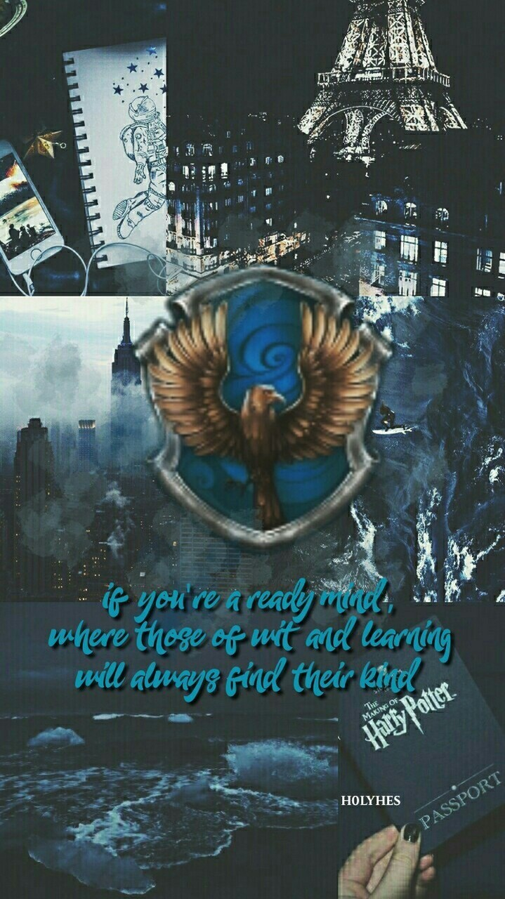 Aesthetic, Blue, And Harry Potter Image - Lock Screen Harry Potter Aesthetic - HD Wallpaper