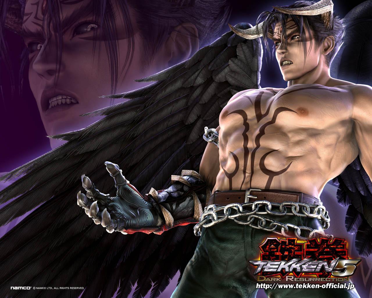 Jin Kazama Devil Jin Wallpaper Tekken 5 1280x1024 Wallpaper