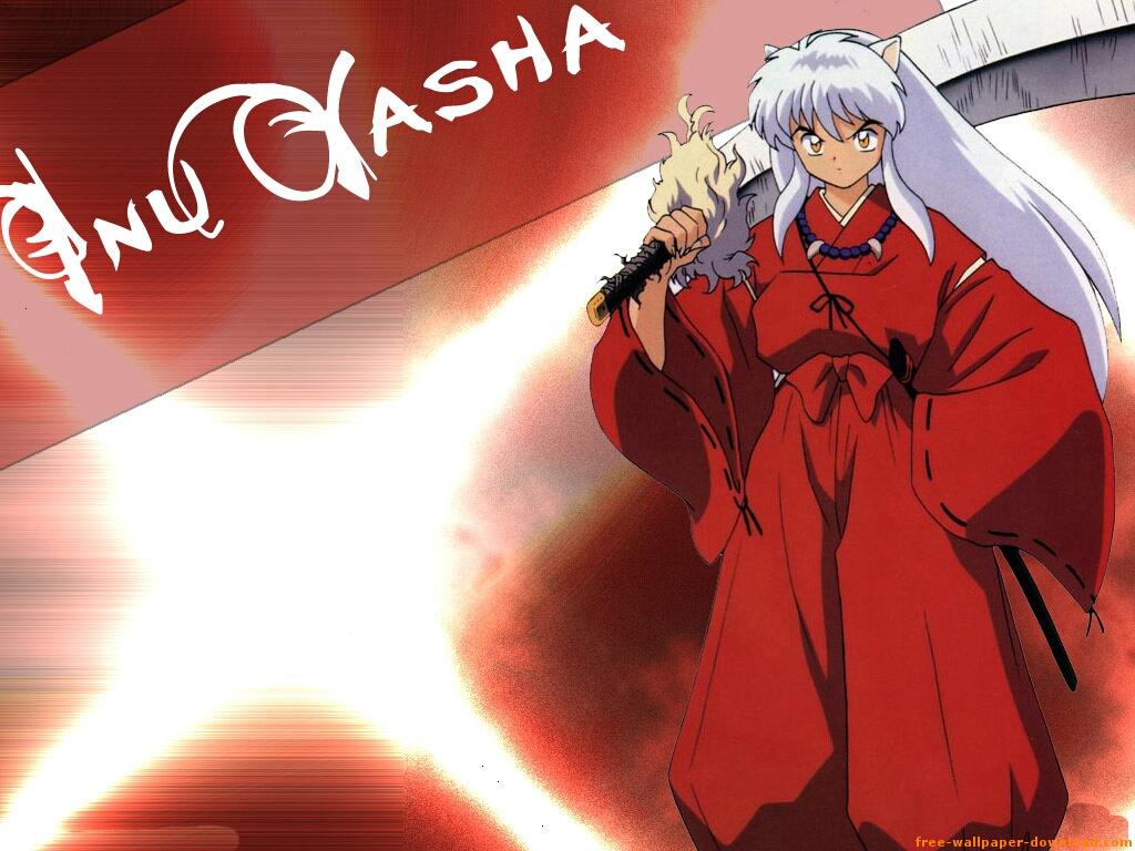 Inuyasha 7 - Long White Hair Anime Guy - HD Wallpaper