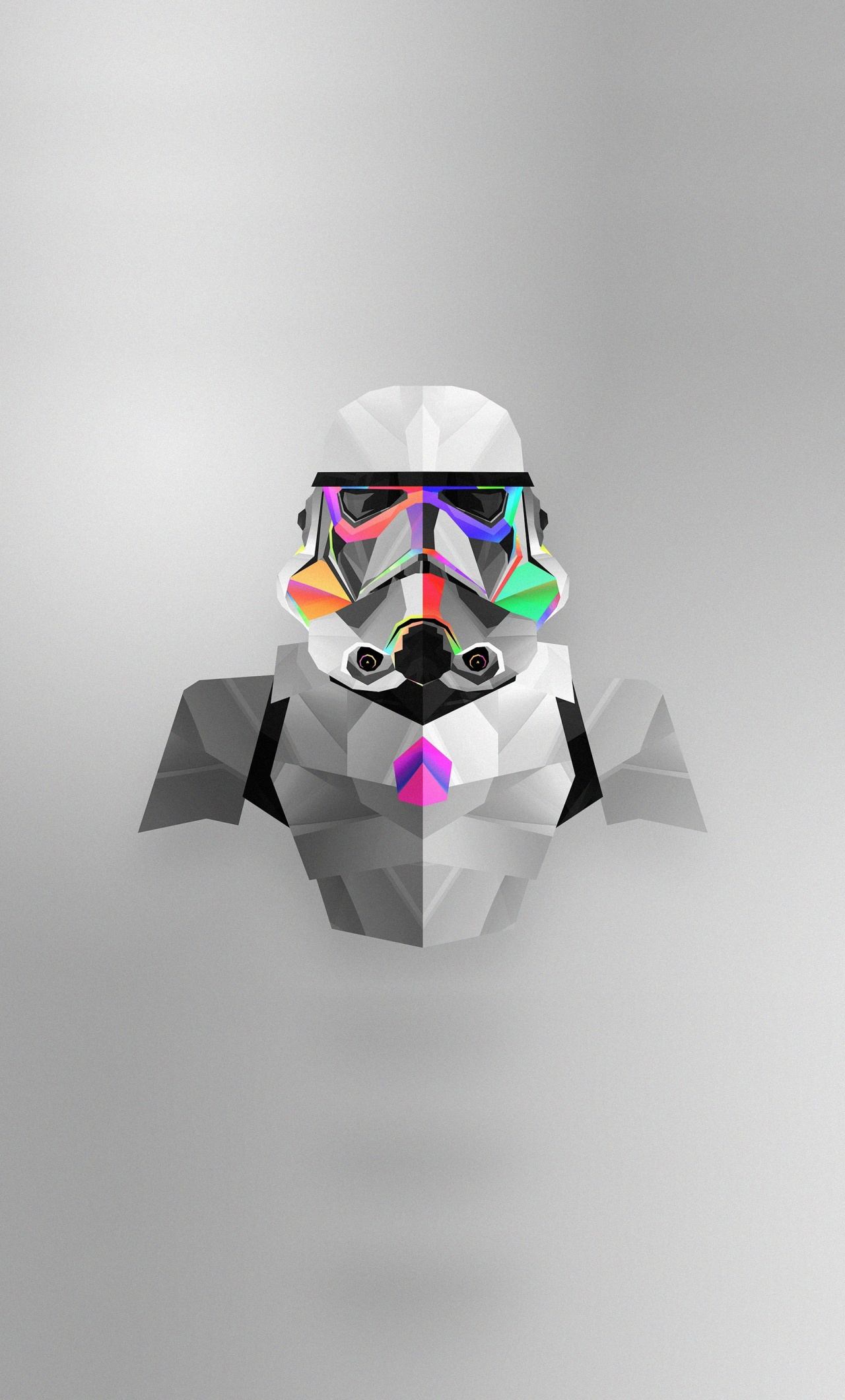 Stormtrooper, Abstract, Star Wars, Colorful, Minimal ...